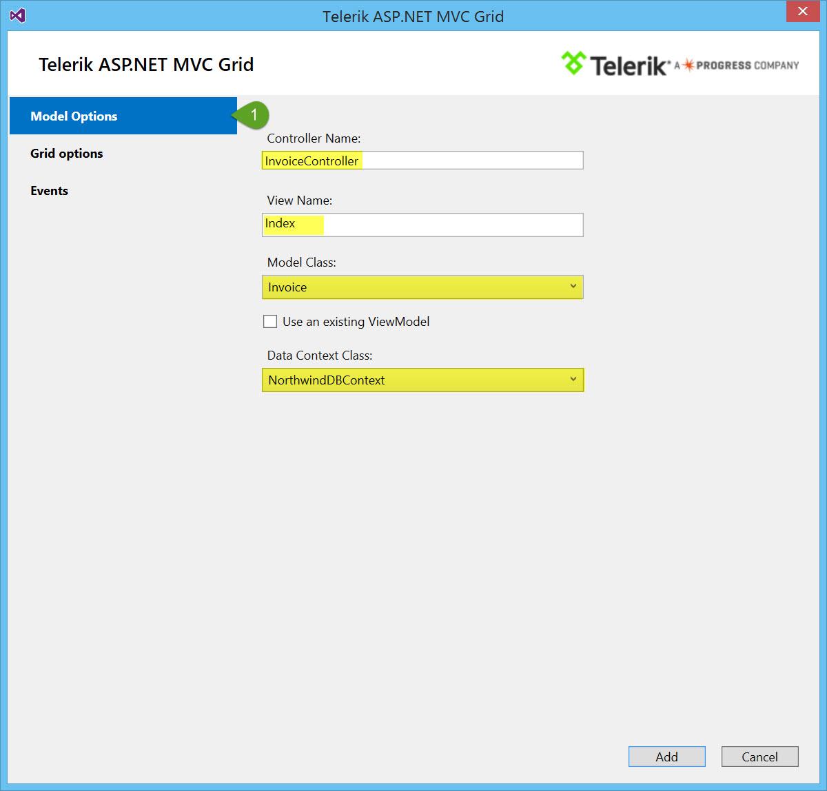 Telerik UI for ASP NET MVC Quick Start